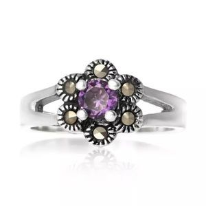 Jewelry - 925. Sterling silver marcasitecubiczirconia purple