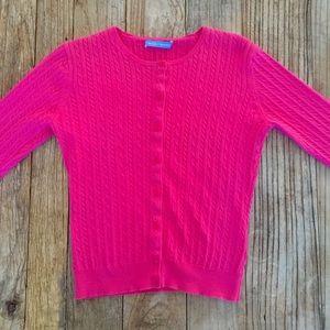 White + Warren Sweaters - White & Warren pink cardigan sweater size M