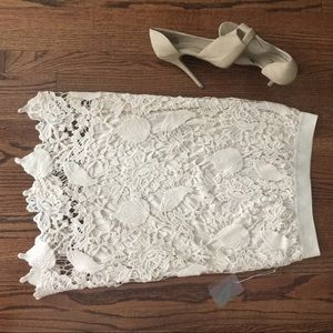 NWT Cream Lace Forever 21 Skirt