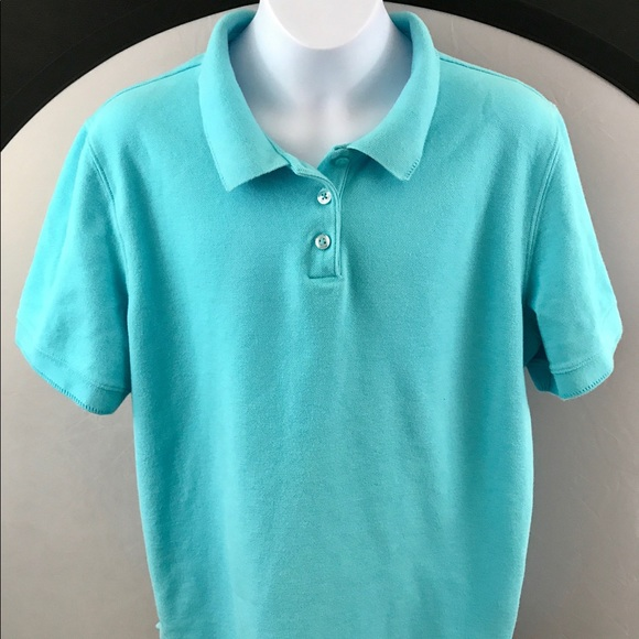 65 off croft barrow tops xl croft and barrow blue for Croft and barrow womens polo shirts