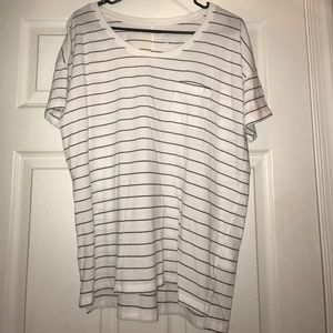 White and Blacked Striped Old Navy tee