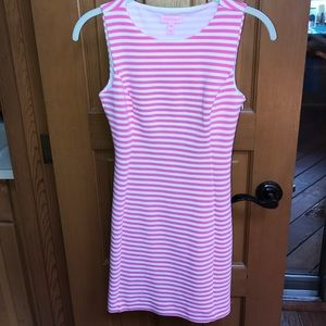 Lilly Pulitzer pink and white stripe dress