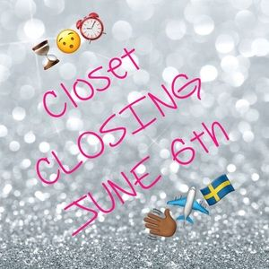 👀👆🏾💁🏾CLOSET CLOSING AGAIN on June 6th!!!🙀