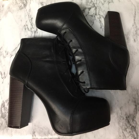 h m vintage vegan leather lita platform ankle boot from