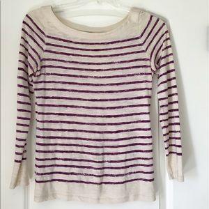 LOFT Tops - LOFT Striped Long Sleeve Shirt