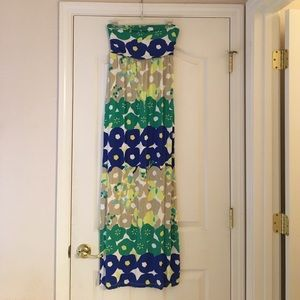 Maxi strapless dress