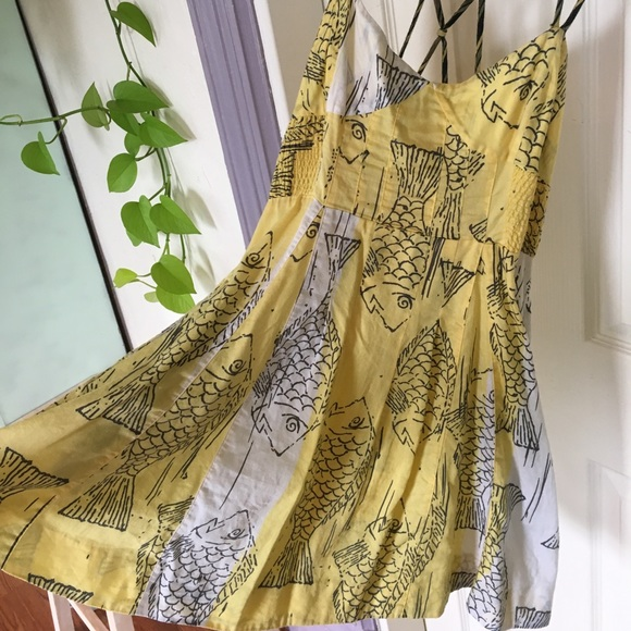 62 off free people dresses skirts free people fish for Fish print dress