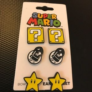 Nintendo Jewelry - Super Mario stud earrings