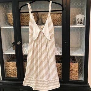 Ella Moss Dresses & Skirts - Ella Moss striped, tan and ivory, sundress!