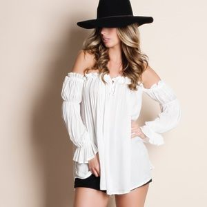 Off Shoulder Peasant Top