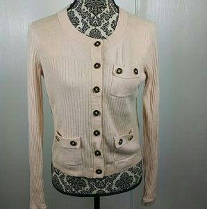CAbi womens size S pink button front cardigan
