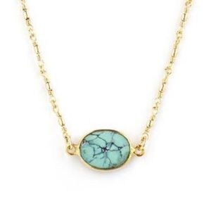 Jewelmint India Turquoise and Gold Necklace