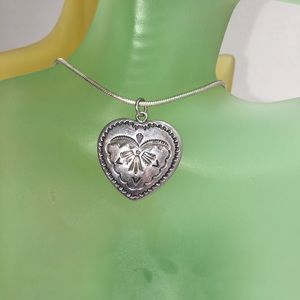 Jewelry - Handmade Navajo Sterling Silver Heart Necklace