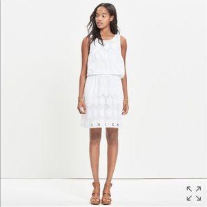 Madewell Eyelet Overlay Dress