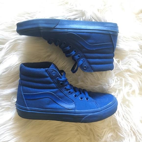 60% off Vans Shoes - All blue monochromatic high top vans ...
