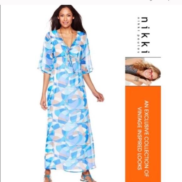 9d0171cdc6af8 Nikki Poulos Swim   Erin Maxi Wear Cover Up Dress   Poshmark
