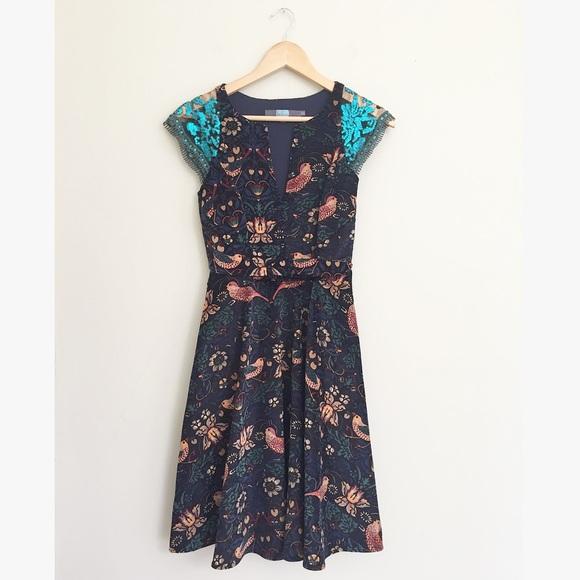 96d64c42954e Anthropologie Dresses & Skirts - Anthropologie Larksong Eva Franco Bird  Dress