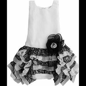 Isobella & Chloe Other - Isobella & Chloe NWT White & Black Ruffle Dress