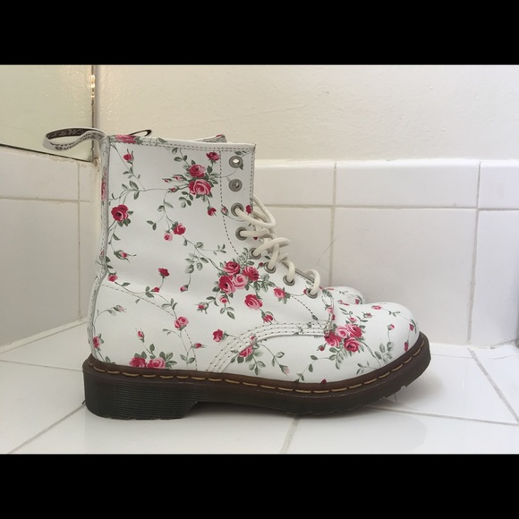32% off Dr. Martens Shoes - Dr Marten floral boots from Brianna\'s ...