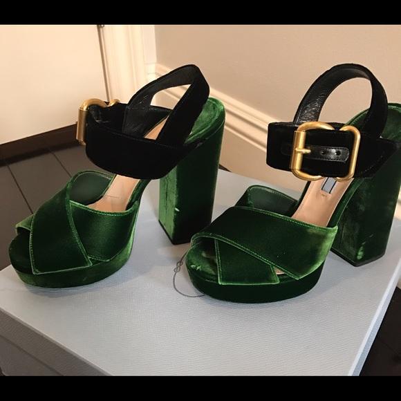 Prada Shoes   Prada Velvet Platform