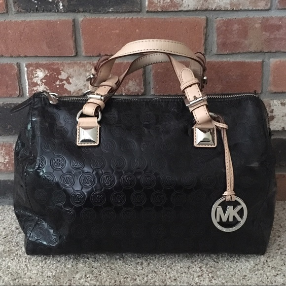 bd4be0d3608ed8 Michael Kors Bags | Mk Greyson Patent Leather Grayson Bag | Poshmark