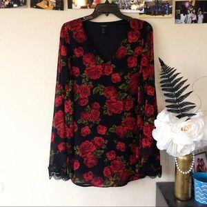 (S/M) NWOT Floral Belle Sleeve Dress