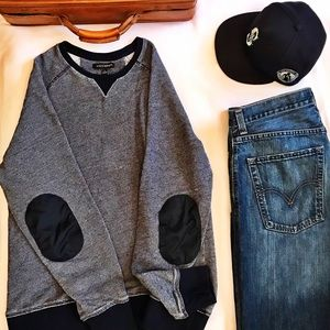 Banana Republic Blue Cotton Sweater (Size L)