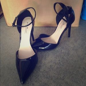 Anne Marie Shoes - Black ankle buckle heels