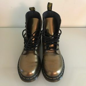 Doc Martens Gold Boots