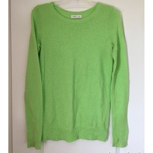 Gilly Hicks/A&F Lime Green Crew Neck Sweater