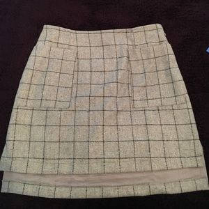 ASOS Gray Wool Mini Skirt