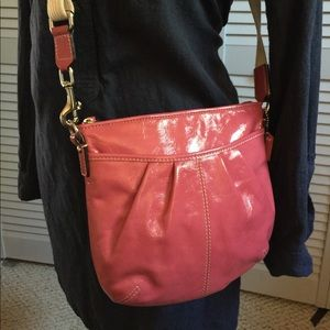 Coach Hot Pink Patent Leather Crossbody