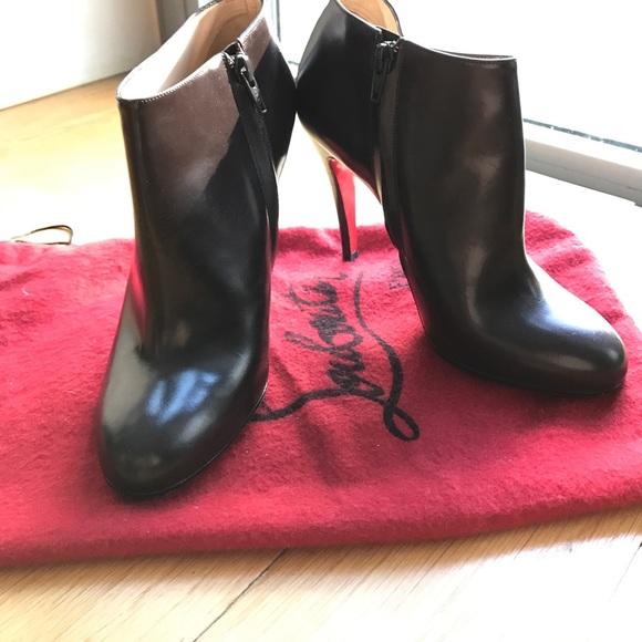 c88d3ee6cca Christian Louboutin Shoes - Christian Louboutin Belle dark brown booties