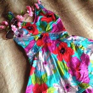 Vintage Other - Vintage Floral Skirted One Piece Swimsuit