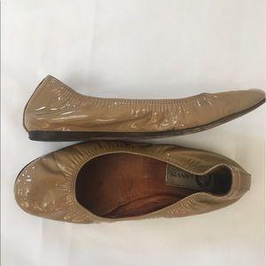 Lanvin Shoes - 💯auth Lanvin Nude Patent Flats