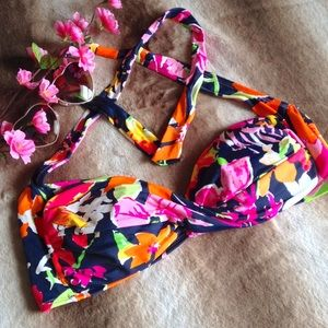Anne Cole Other - NWOT Anne Cole Floral Twist Front Swim Top