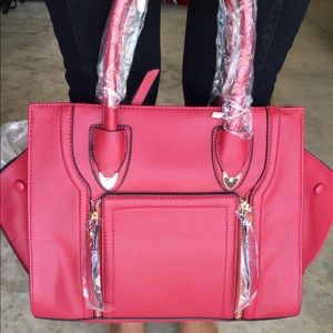 Red Handbag Designer Inspired