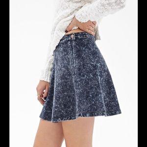 💎Insta Chic HP💎Acid Wash Denim Skater Skirt