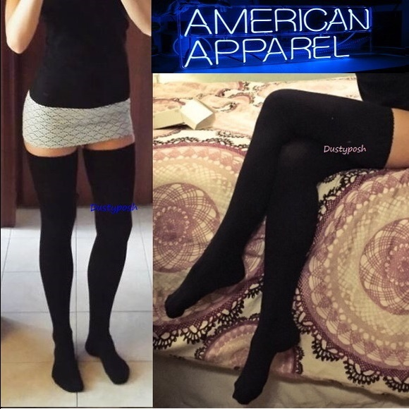 da70698faa3 American Apparel Thigh High Sock Over The Knee OTK