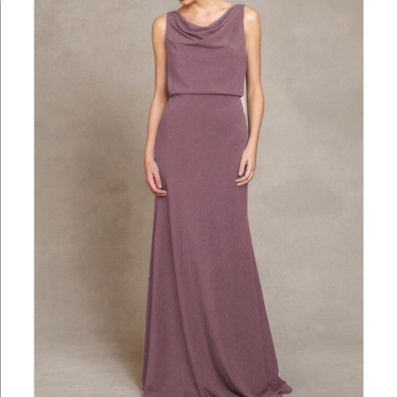 Jenny Yoo Dresses Crepe De Chine Madelyn In Fig Size 10