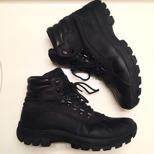 Other - Men's black leather hiking boots size 12