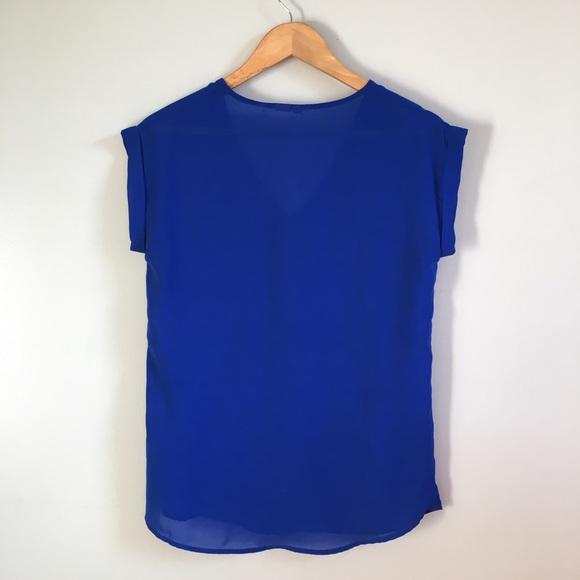 Zara Tops - Cobalt Zip Top