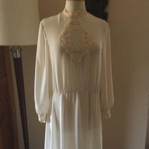 Beautiful 1980s vintage sheer dress.