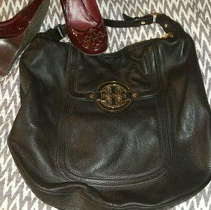 Authentic Tory Burch Black Leather Shoulder Bag