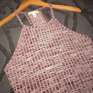 Silence & Noise burgundy knit dress