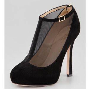 Kate Spade Neveah Mesh t-strap Booties LIKE NEW