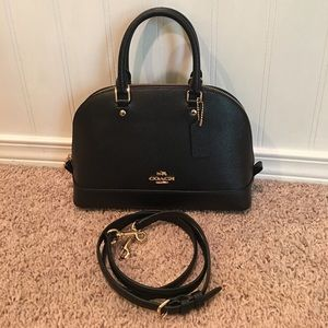 *Like New* COACH Black Leather Dome Satchel