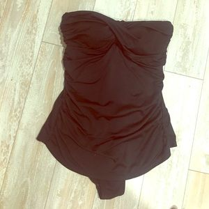 Jantzen Other - Black One piece strapless bathing suit