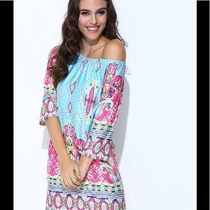 Aproms Dresses & Skirts - APROMS bohemian off the shoulder summer dress