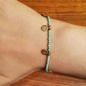 Satya Jewelry Jewelry - Satya Om Gold Painted Sterling Turquoise Bracelet